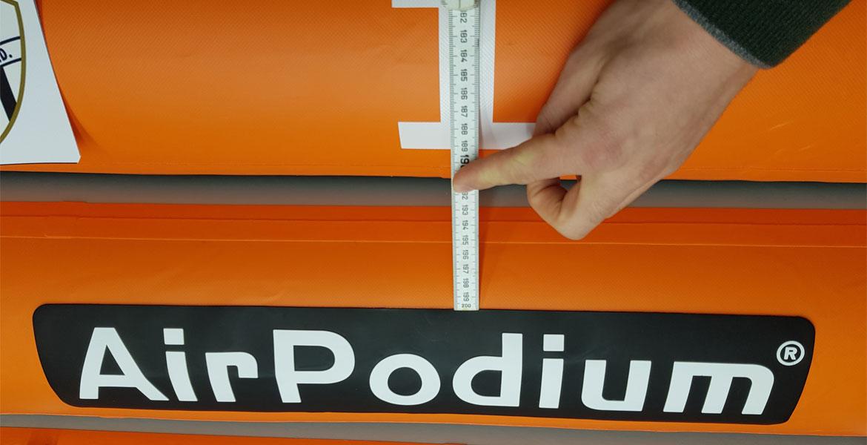 Particolare di AirPODIUM | Podio gonfiabile Air Track Italia®
